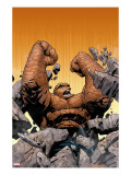 Marvel Knights 4 10 Cover: Thing Fighting