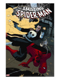 The Amazing Spider-Man 577 Cover: Spider-Man and Punisher
