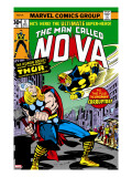 Nova: Origin Of Richard Rider - The Man Called Nova 4 Cover: Nova and Thor