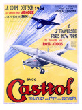 Castrol Aviation Motor Oil Poster