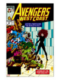 Avengers West Coast 47 Cover: Scarlet Witch  Captain America and She-Hulk