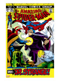 The Amazing Spider-Man 109 Cover: Spider-Man  Dr Strange  and Flash Thompson