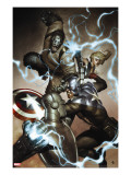 Agents of Atlas 3 Cover: Captain America  Namora  Gorilla-Man and M-11