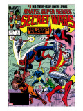 Secret Wars 3 Cover: Colossus  Nightcrawler  Spider-Man  Wolverine  Storm  Cyclops and X-Men