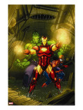 Marvel Adventures Super Heroes 4 Cover: Iron Man  Hulk and Spider-Man