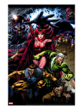 X-Men: Legacy 209 Cover: Toad  Quicksilver  Scarlet Witch and Magneto