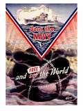 WWII US Navy &#39;Join the Navy&#39; Mine sweeper Poster