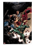 Thor 84 Cover: Thor and Loki Fighting and Flying
