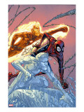 X-Men: First Class 16 Cover: Iceman  Human Torch and Spider-Man