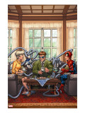 Marvel Adventures Spider-Man 33 Cover: Spider-Man  May Parker and Doctor Octopus Swinging
