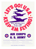 WWII US Army Air Corps 'Let's Go'