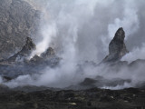 Erta Ale Steaming Hornitos  Danakil Depression  Ethiopia