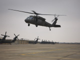 A UH-60 Black Hawk Taking Off for a Mission over Northern Iraq