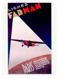 Farman Paris Airline Poster