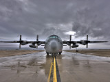 High Dynamic Range Image of a US Air Force C-130 Hercules