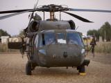 A UH-60L Black Hawk with Twin M240G Machine Guns at the Victory Base Complex in Baghdad  Iraq