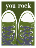 You Rock Green Sneakers