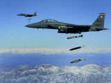 US Air Force F-15E Strike Eagle Aircraft Drops 2 000-Pound Joint Direct Attack Munitions