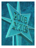 Blue Skies Ahead Vintage Road Sig