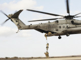 Air Force Pararescuemen Conduct a Combat Insertion and Extraction Exercise in Djibouti  Africa
