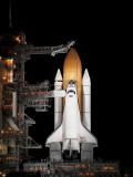 Space Shuttle Atlantis Sits Ready on its Launch Pad at Kennedy Space Center  Florida