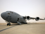 A C-17 Globemaster Iii Sits on the Runway at Cob Speicher  Iraq