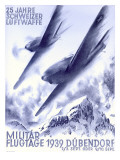 1939 Swiss Luftwaffe Aviation Poster