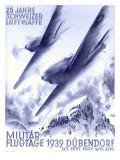 1939 Swiss Luftwaffe Aviation Poster
