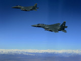 US Air Force F-15E Strike Eagles Approach a Mission Objective in Eastern Afghanistan