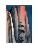 Evening Glow of Yosemite Waterfall 1930