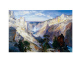 Grand Canyon of the Yellowstone  Wyoming  1906