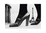Shoes and Eiffel Tower  Paris  1974