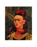 Self Portrait with a Monkey, c.1940 Reproduction d'art par Frida Kahlo