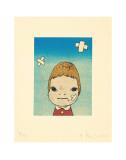 Green Eyes, c.2002 Reproduction d'art par Yoshitomo Nara
