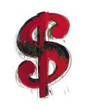 Symbole du dollar (1981) Reproduction d'art par Andy Warhol
