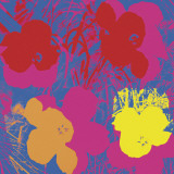 Flowers  1970 (Red  Yellow  Orange on Blue)