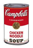 Boite de soupe Campbell I: Nouilles au poulet, vers 1968 Reproduction d'art par Andy Warhol