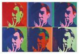 Ensemble de six autoportraits, 1967 Reproduction d'art par Andy Warhol
