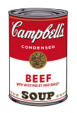 Campbell's Soup I: Beef, c.1968 Reproduction d'art par Andy Warhol