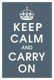 Keep Calm (charcoal)