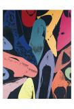 Chaussures poussière de diamant 1980 (lilas, bleu, vert) Reproduction d'art par Andy Warhol
