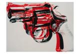 Pistolet, vers 1981-82 (noir et rouge sur blanc) Reproduction d'art par Andy Warhol