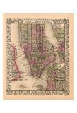 Plan of New York City  c1867