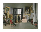 The Painter's Atelier in the Rue de la Condamine  c1870