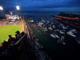 Texas Rangers v San Francisco Giants  Game 1: Boaters and fans congregate in McCovey Cove