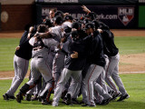 Texas Rangers v San Francisco Giants  Game 5:  San Francisco Giants celebrate their 3-1 victory