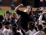 Texas Rangers v San Francisco Giants  Game 5:  Pitcher Tim Lincecum