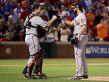 San Francisco Giants v Texas Rangers  Game 4: Buster Posey Brian Wilson