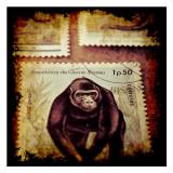 Gorilla Stamp Reproduction d'art par Jean-François Dupuis