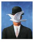 L'Homme au Chapeau Melon, c.1964 Reproduction d'art par Rene Magritte